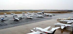 Inauguration traffic at APP Jet Center Manassas